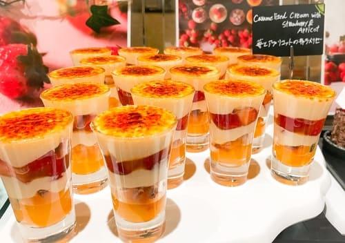 ザ・テラス ストロベリーデザートブッフェ 苺とアプリコットのキャラメリゼ*