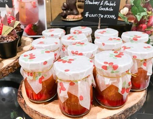 苺とルバーブのガスパチョ