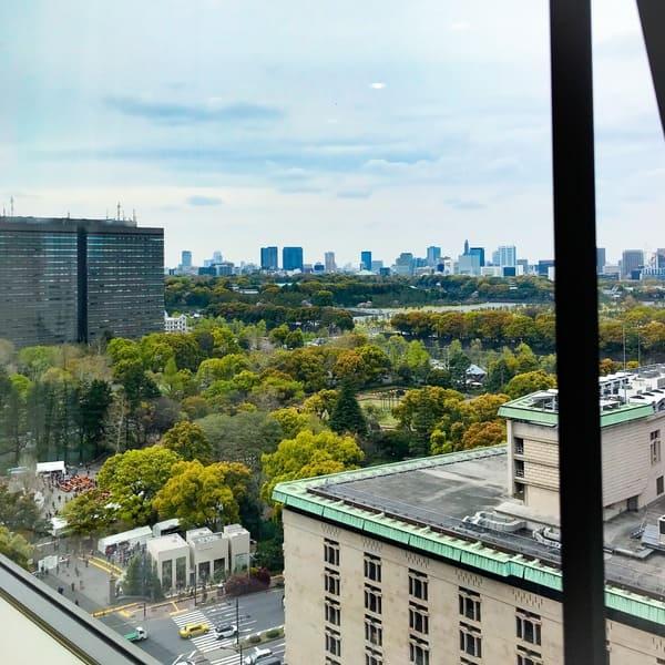 帝国ホテル東京 インペリアルバイキング サール からの眺望