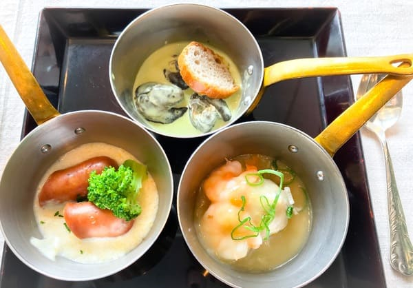 帝国ホテル東京 サール 温かいココット料理 盛り合わせ