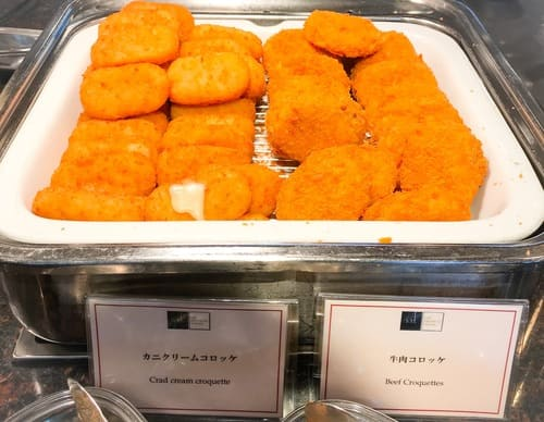 帝国ホテル東京 インペリアルバイキング サール  ランチ カニクリームコロッケ、牛肉コロッケ