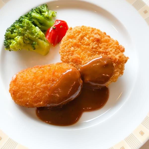 帝国ホテル東京 サール カニクリームコロッケ、牛肉コロッケ 感想レビューブログ