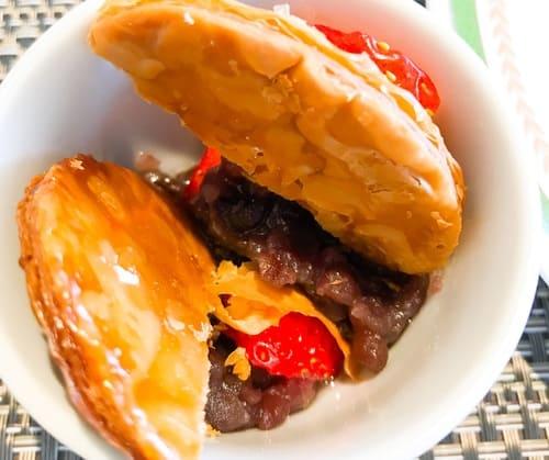 川崎日航ホテル 夜間飛行 苺スイーツブッフェ いちごと小豆のパイ 感想ブログ