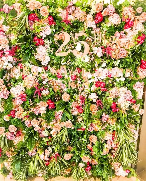 リーガロイヤルホテル東京 開業25周年記念 ロビーの装花ボード