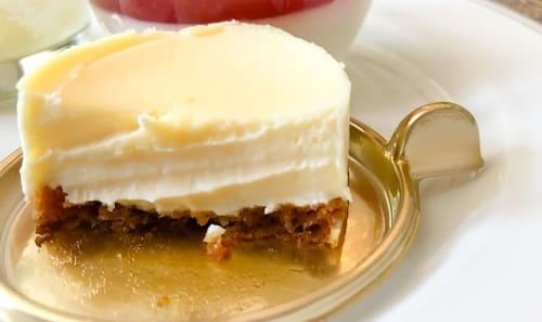 幸せのチーズケーキの断面図 ブログ