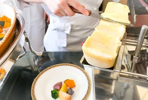ラクレットチーズと温野菜