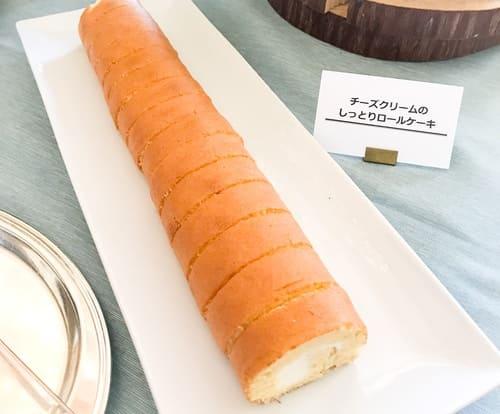 チーズクリームのしっとりロールケーキ