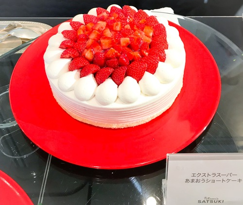 ホテルニューオータニ東京 スイーツブッフェ SATSUKI エクストラスーパーあまおうショートケーキ