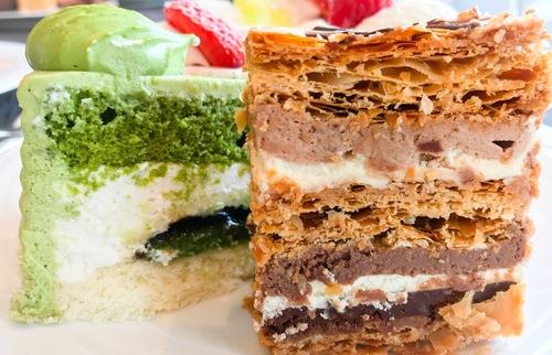ホテルニューオータニ東京 スイーツブッフェ SATSUKI スーパーチョコレートミルフィーユ 口コミブログ