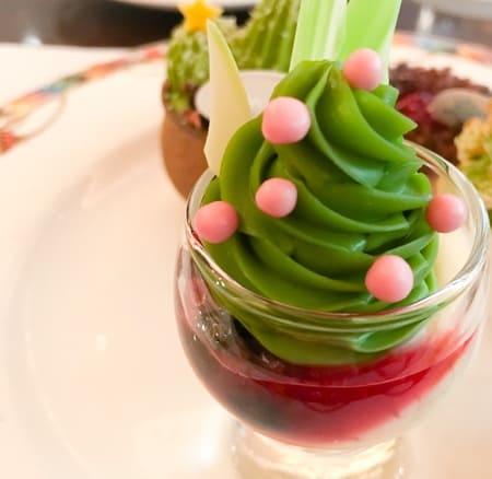 ザ・テラス 抹茶デザートブッフェ カシスとマリネの抹茶のクリーム ブログ