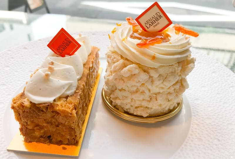 アルノー・ラエール ケーキ 写真 ミルフォイユ バニーユ、グルマンディーズ オランジュ の口コミレビューブログ