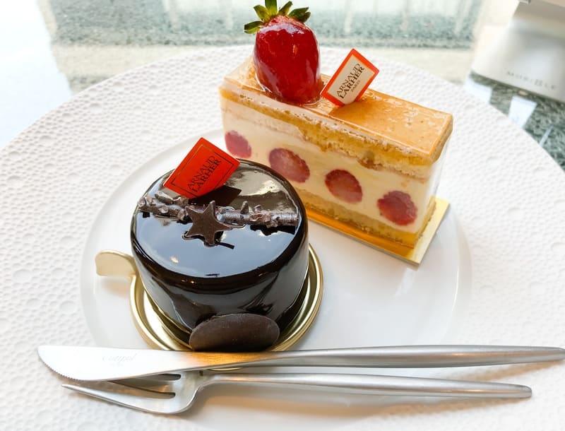 アルノー・ラエール でイートインしたレビューブログ 食べたケーキはトゥールーズ=ロートレック、ミルフォイユ バニーユ