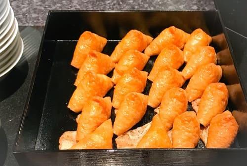 ザ・テラス デザートブッフェ 軽食メニュー いなり寿司