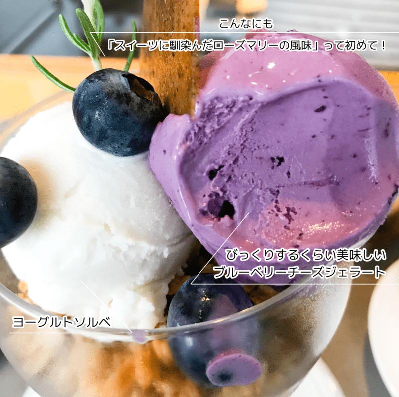 アサコイワヤナギ パルフェブルーベリーチーズケーキの感想 ブログ