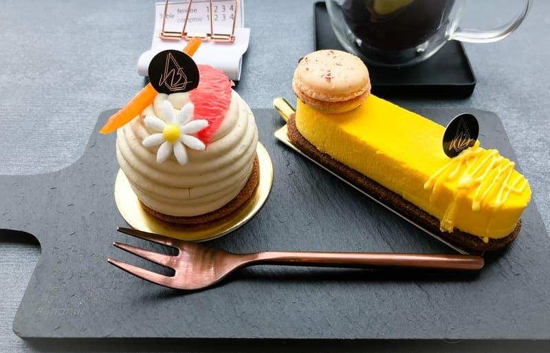 ヌメロサンク・パリの土日祝日限定ケーキ 2019年春〜夏 写真 左:エデン、右:サルデーニャ