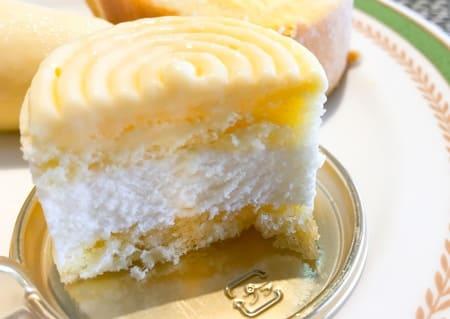 チーズのムースの断面写真