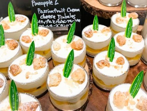 パイナップルとパッションフルーツのクリームチーズタンバル