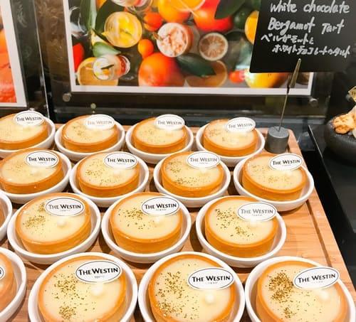ウェスティンホテル東京 ザ・テラス デザートブッフェ ベルガモットとホワイトチョコレートのタルト
