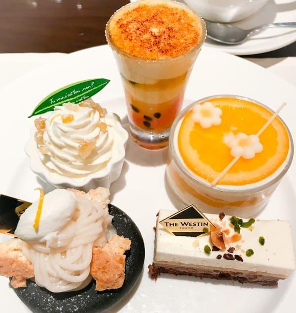 ウェスティンホテル東京 ザ・テラス2019年8月 シトラスデザートブッフェメニュー ブログ