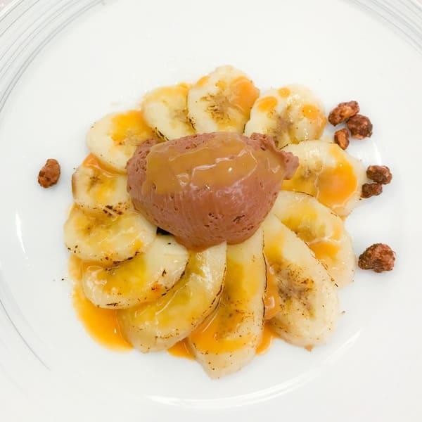 馬場園シェフ一夜限りのデザート「バナナと足柄ほうじ茶チョコレートのデセール」