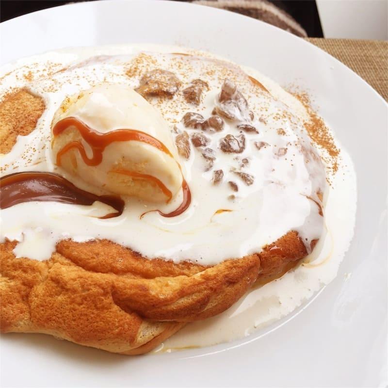 アトリエコータ マロンのスフレパンケーキ