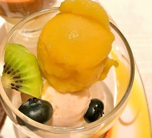 ザ・テラス アイスの「シャーベットマロン&パッションフルーツ」