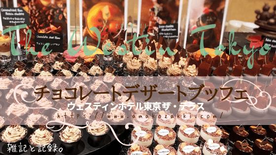 ウェスティンホテル東京 ザ・テラス「チョコレートデザートブッフェ 2019年11月」ブログ