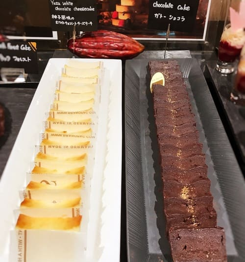 柚子風味のホワイトチョコレートチーズケーキ、ガトーショコラ