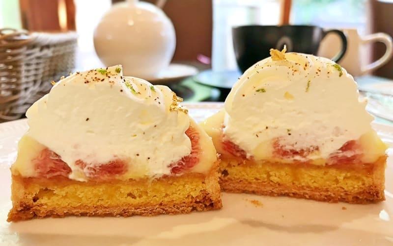 カフェミクニズのケーキ断面図 季節のタルト「イチジク」