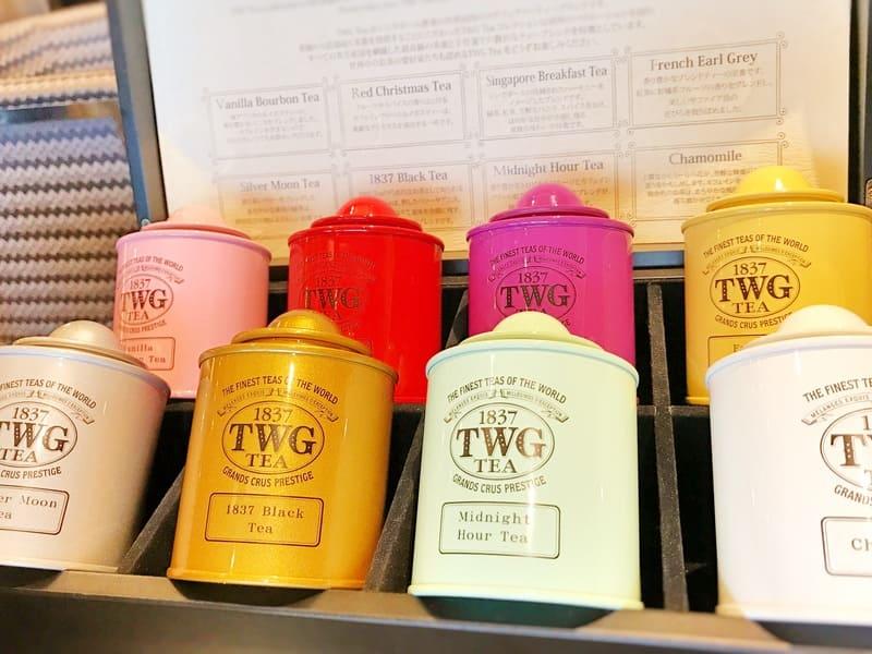 グランラウンジ 茶葉のフレーバーを最初にテイスティングさせていただけます