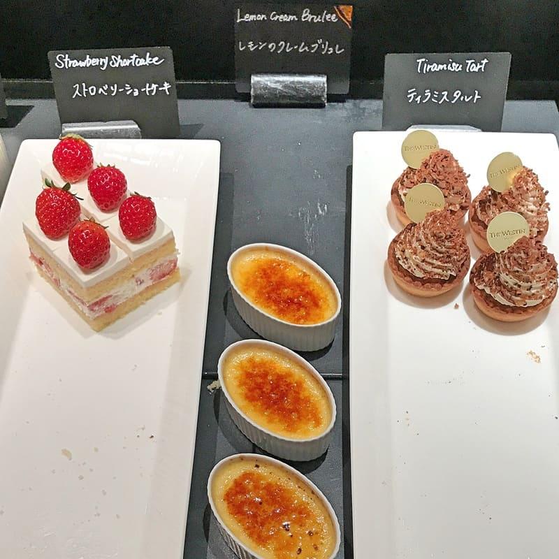 ザ・テラス ティラミスタルト、レモンのクレームブリュレ*、ストロベリーショートケーキ