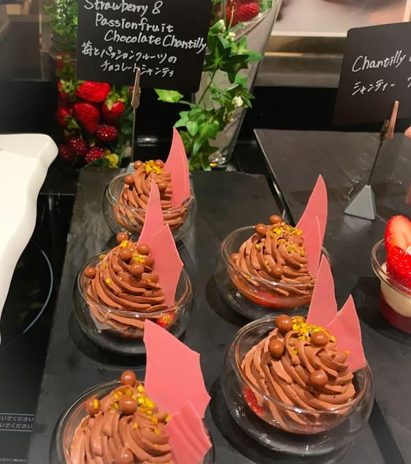 苺とパッションフルーツのチョコレートシャンティ