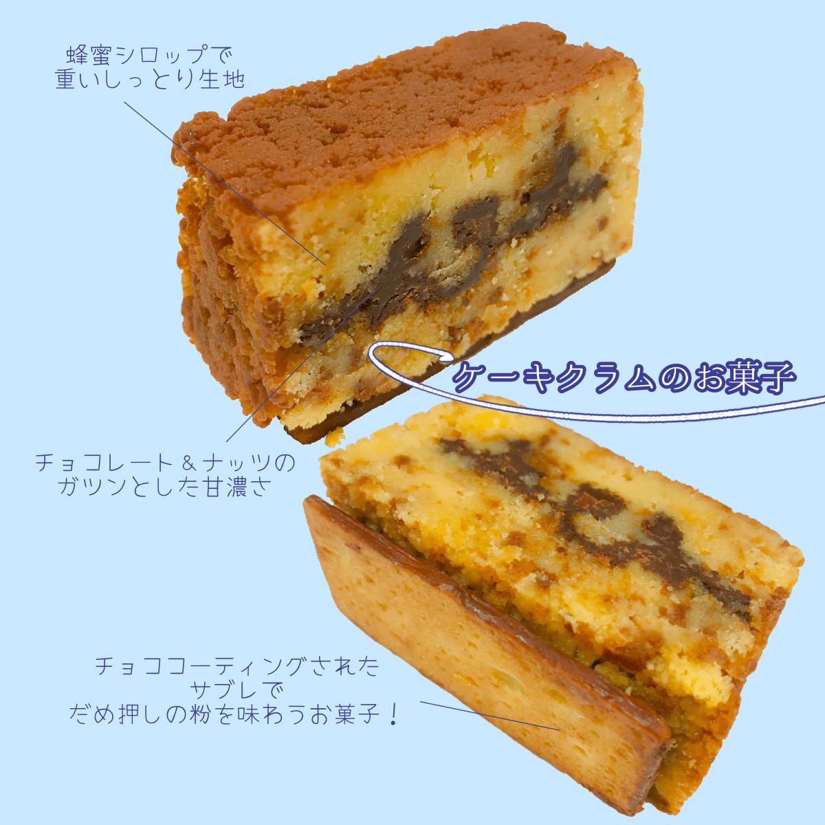 イルプルー ケーキクラムのお菓子
