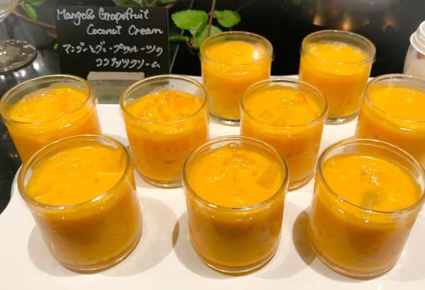 マンゴーとグレープフルーツのココナッツクリーム