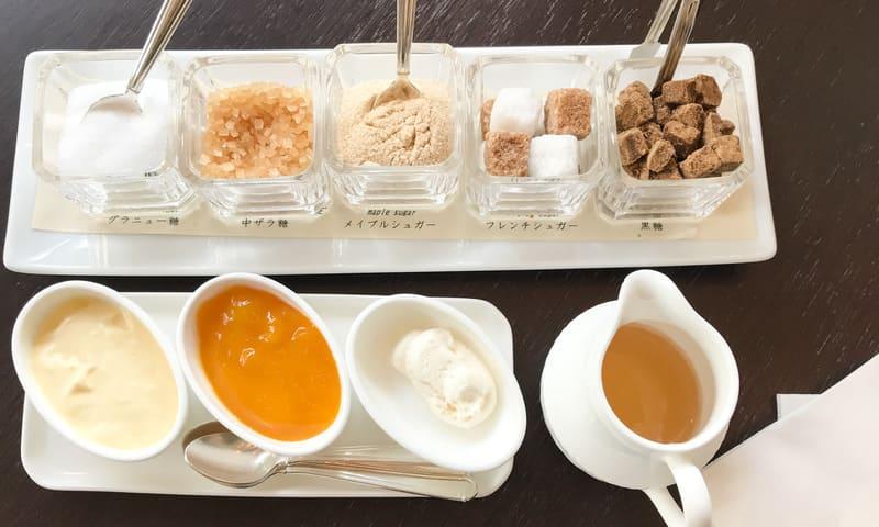 坐忘アフタヌーンティー  5種類のお砂糖とスコーン用のディップ