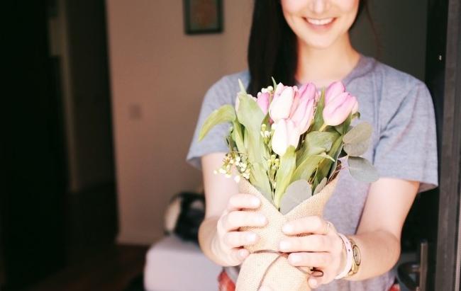 ホワイトデー 花