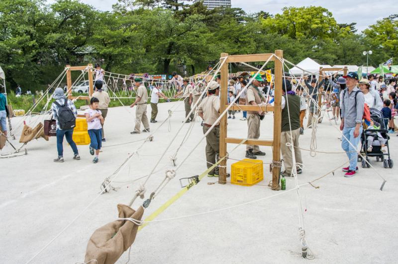 愛知県岡崎市の岡崎こどもまつりのボーイスカウトアスレチック