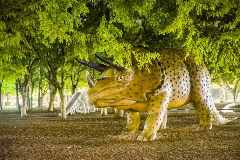 のんほいパークナイトZOOでの恐竜