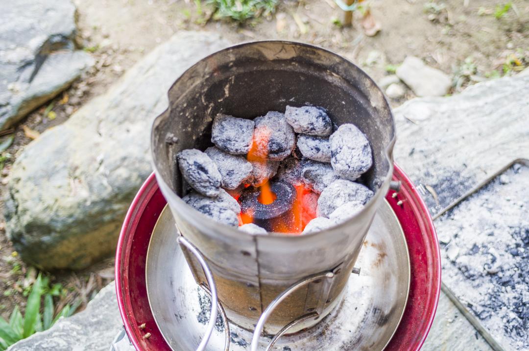バーベキュー 火おこし器 豆炭