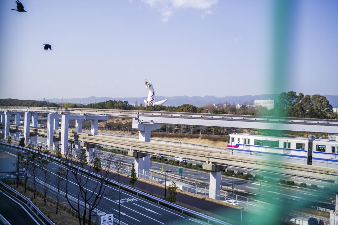 エキスポシティー駐車場から見れる太陽の塔