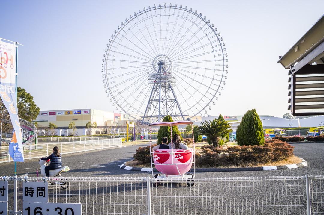 万博公園の自転車アトラクション