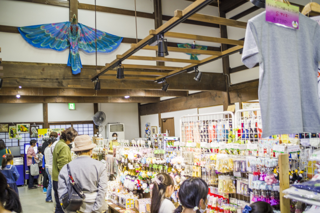 掛川花鳥園のお土産コーナー