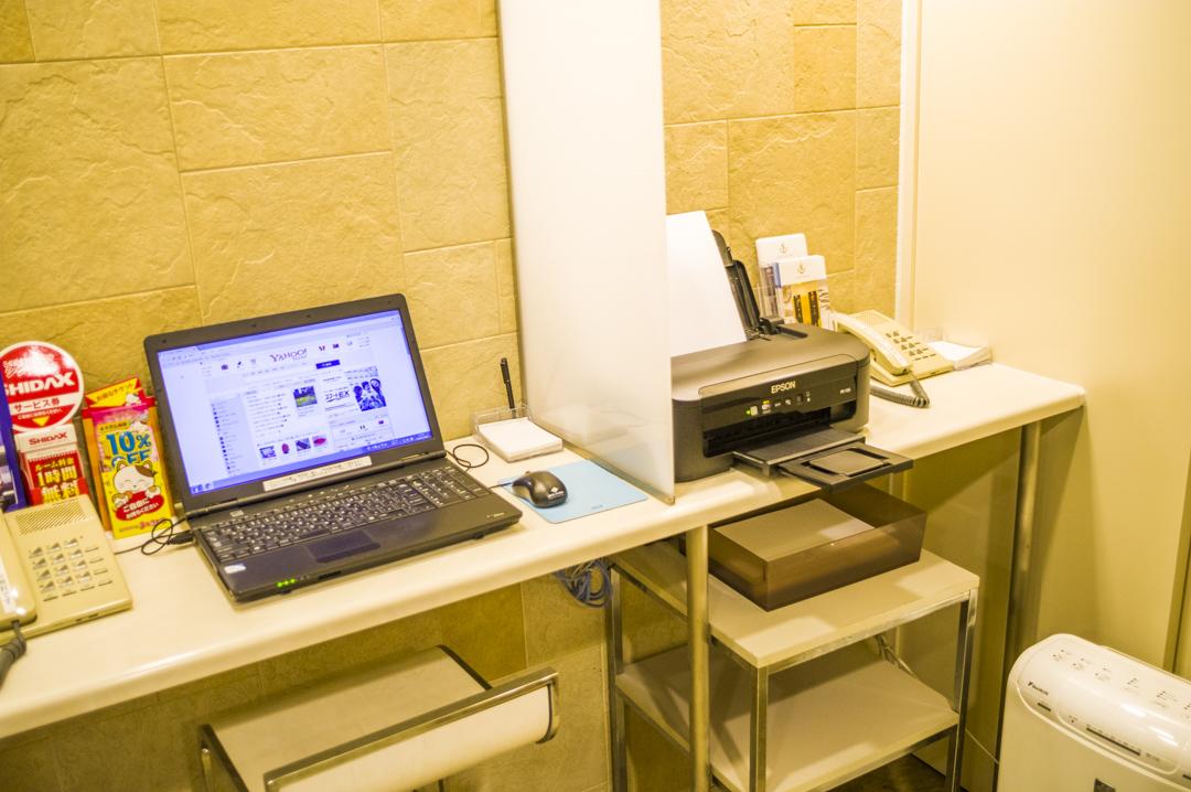 焼津のハイグレードビジネスホテルのパソコン&プリンター