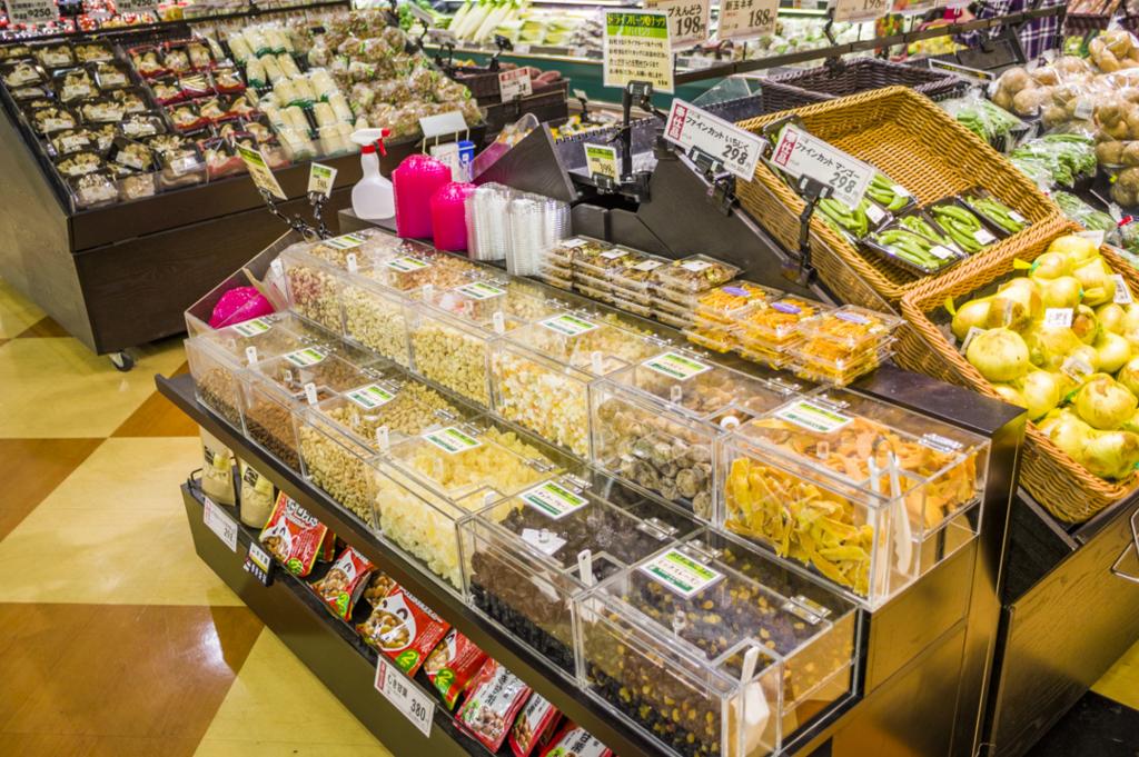 静岡県焼津市にあるナッツの詰め放題