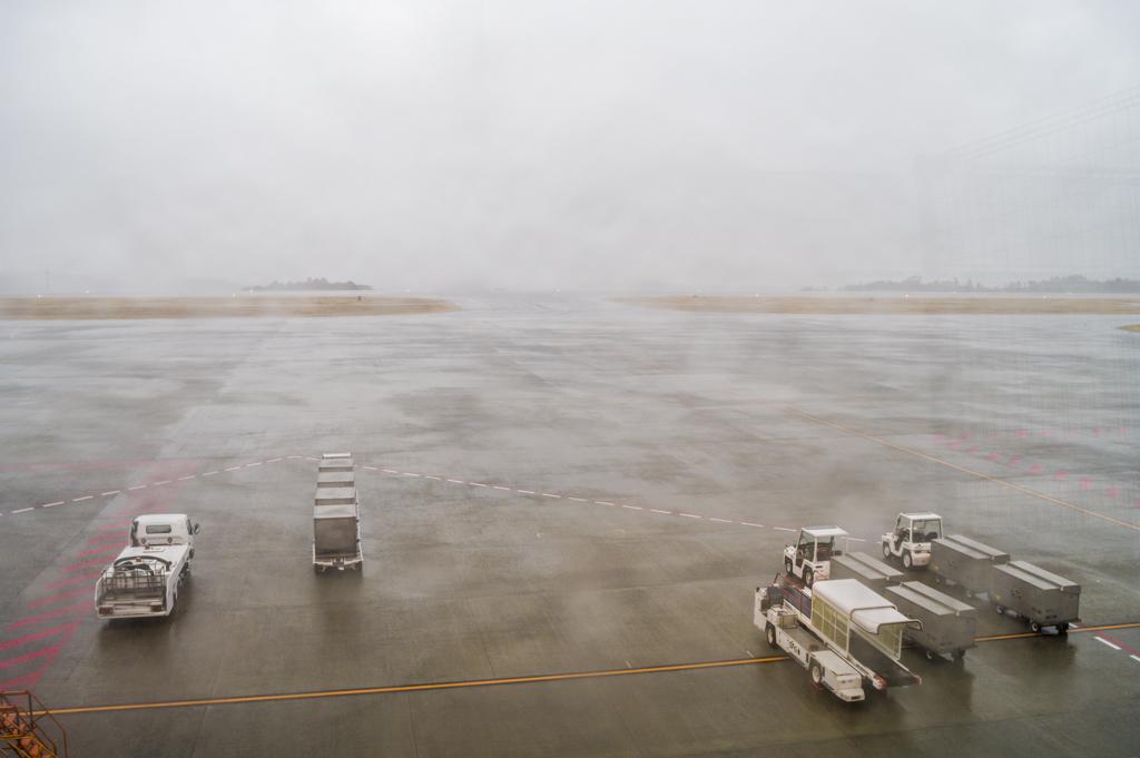 富士山静岡空港の滑走路