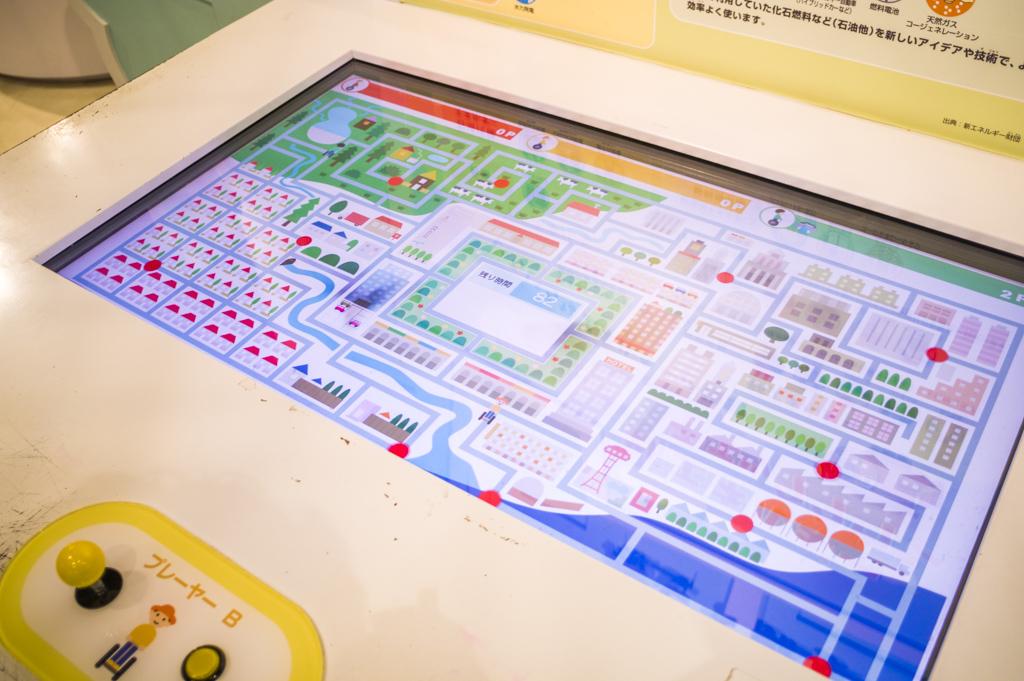 浜岡原子力館新エネルギーホールの同時プレイ可能なゲーム