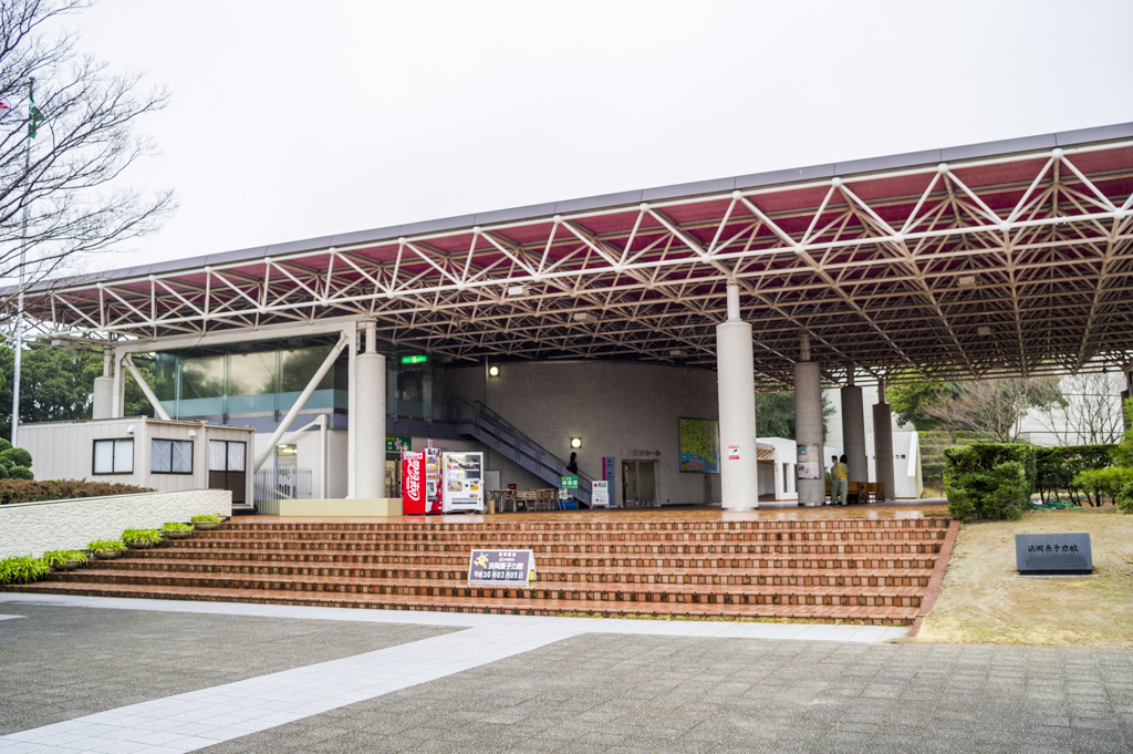 浜岡原子力発電所休憩所前の記念撮影スポット
