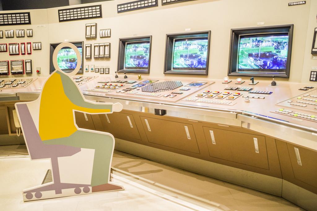 浜岡原子力館にある珍しいタイプの顔はめパネル