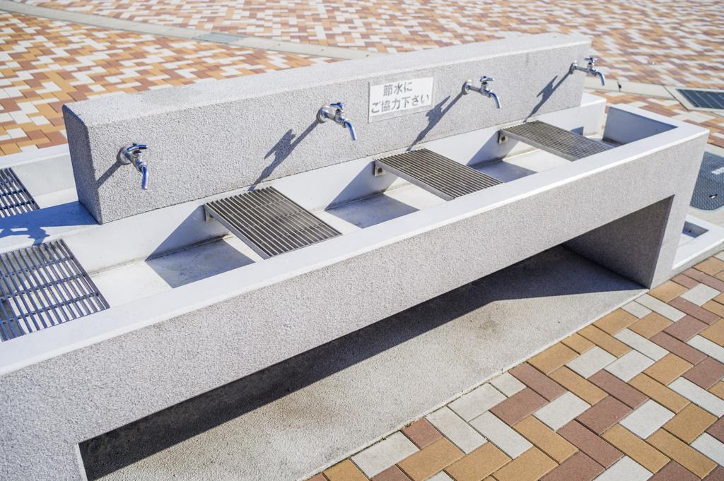 岡ノ山遊ぼっ茶広場の水道施設