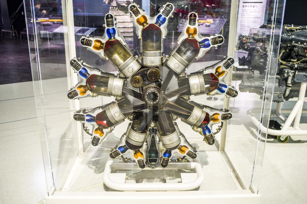 星型エンジンレシプロエンジンの可動模型